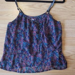 Feathered Flowy Tank Top
